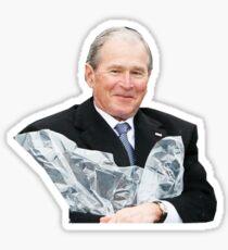 George W Bush Poncho Joy Sticker