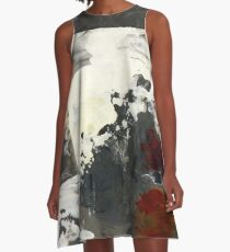 Black and White Captivity A-Line Dress