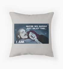 Battlestar Galactica's Roslin and Adama Throw Pillow
