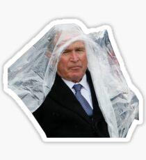 George W Bush - Poncho Meme - Mad Sticker