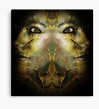 We All Wear Masks  Canvas Print