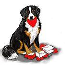 Bernese mountain dog valentine by Patricia Reeder Eubank