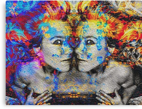 Double Trouble Mixed Media Artwork by LouisaCatharine