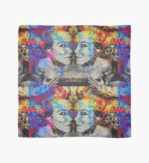 Double Trouble Mixed Media Artwork Scarf