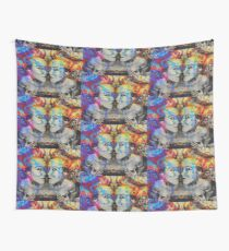 Double Trouble Mixed Media Artwork Wall Tapestry