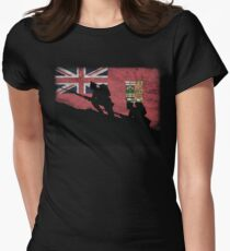 Over The Top! Canada Red Ensign Womens Fitted T-Shirt