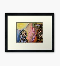 The puzzle of piety Framed Print