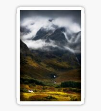 Blaven and malevolent weather. Isle of Skye, Scotland. Sticker