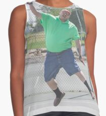 "The Funny Stepdad ""Tennis Legend"" Contrast Tank"