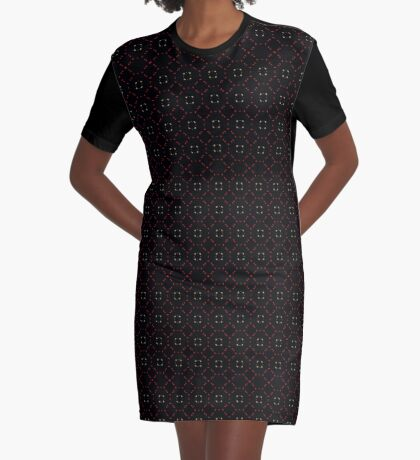 Red and Taupe Small Pattern by Julie Everhart Graphic T-Shirt Dress