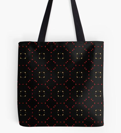 Red and Taupe Small Pattern by Julie Everhart Tote Bag
