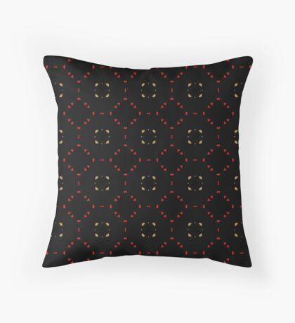 Red and Taupe Small Pattern by Julie Everhart Throw Pillow