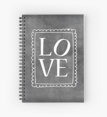 Chalkboard Style | LOVE Spiral Notebook