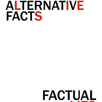 Alternative Facts Factual Lies (ALT FONT - (Custom Fonts Avaliable - See Description)) by sylo18