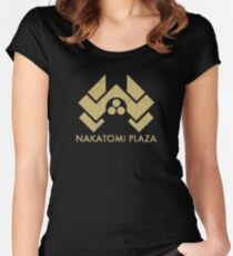 A distressed version of the Nakatomi Plaza symbol Women's Fitted Scoop T-Shirt