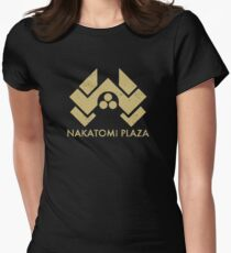 A distressed version of the Nakatomi Plaza symbol Fitted T-Shirt