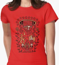 Grand Magus Summons Entity With Dark Popcorn Power Women's Fitted T-Shirt