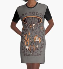 Grand Magus Summons Entity With Dark Popcorn Power Graphic T-Shirt Dress