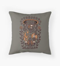 Grand Magus Summons Entity With Dark Popcorn Power Throw Pillow