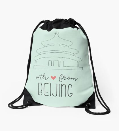 With Love from Beijing Drawstring Bag