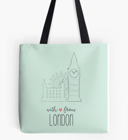 With Love from London Tote Bag
