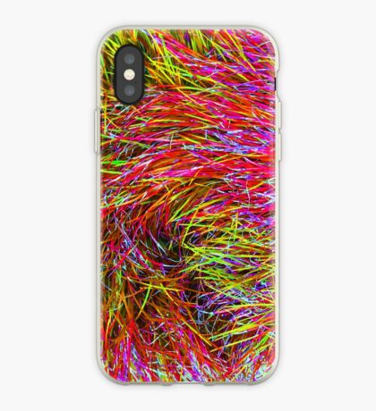 A Swirl of Grass - Fireworks iPhone Case