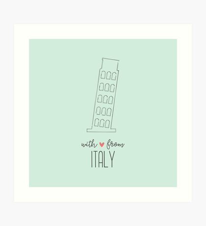 With Love from Italy Art Print