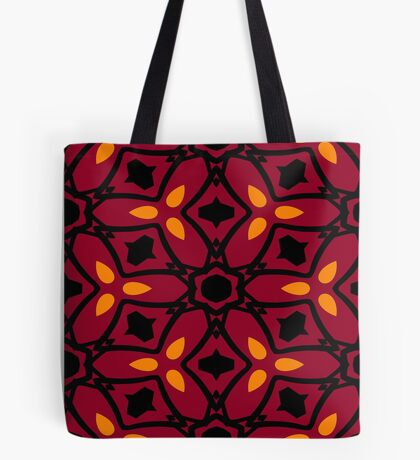 Burnt Orange and Peach by Julie Everhart Tote Bag