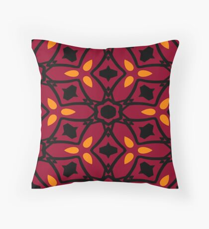 Burnt Orange and Peach by Julie Everhart Throw Pillow