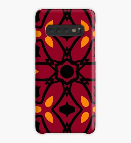 Burnt Orange and Peach by Julie Everhart Case/Skin for Samsung Galaxy