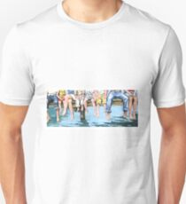 Family on Dock Unisex T-Shirt