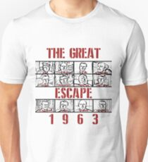 The Great Escape (1963) Red Unisex T-Shirt