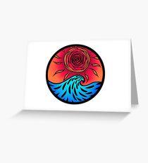 Rose sunset Greeting Card