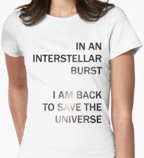 In an Interstellar Burst Womens Fitted T-Shirt