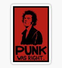 Oi- Punk Was Right Sticker