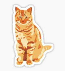 Pegatina Gato anaranjado