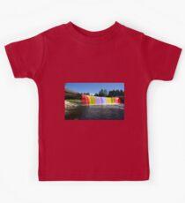 Rainbow Waterfall Kids Tee