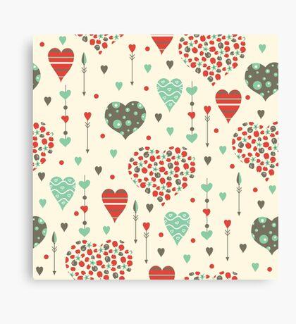 Romantic hearts Canvas Print