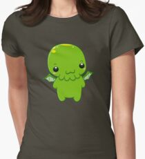chibi cthulhu - the green monster Womens Fitted T-Shirt