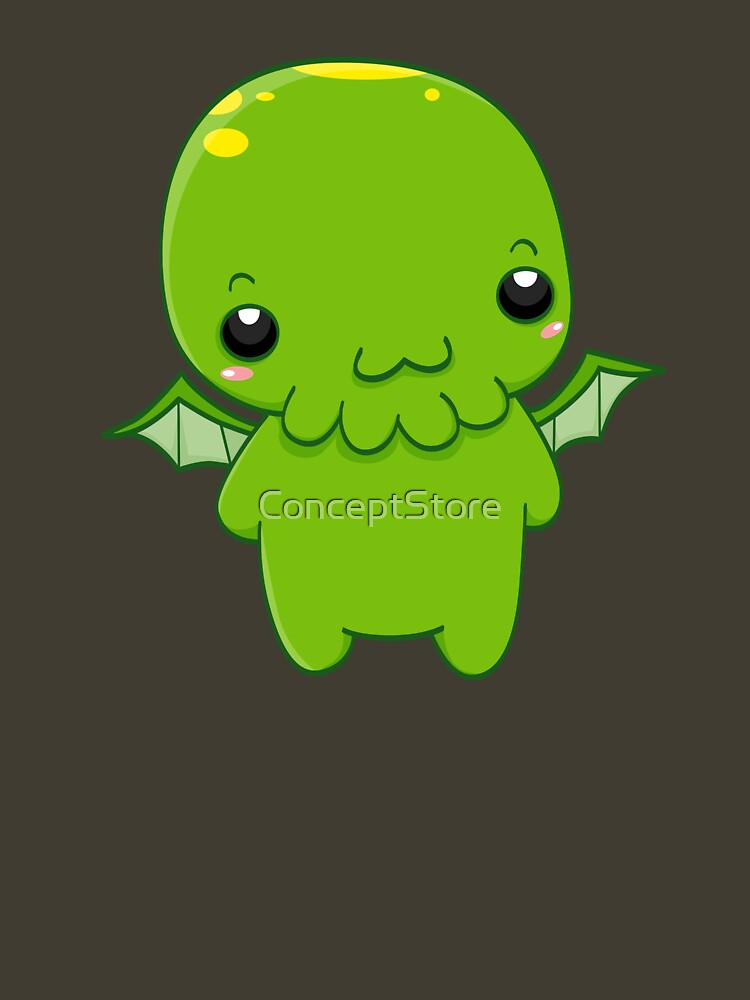 Quot Chibi Cthulhu The Green Monster Quot T Shirt By