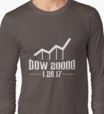 Dow 20000 - January 27, 2017 - Historical Finance - Dow Shirt T-Shirt