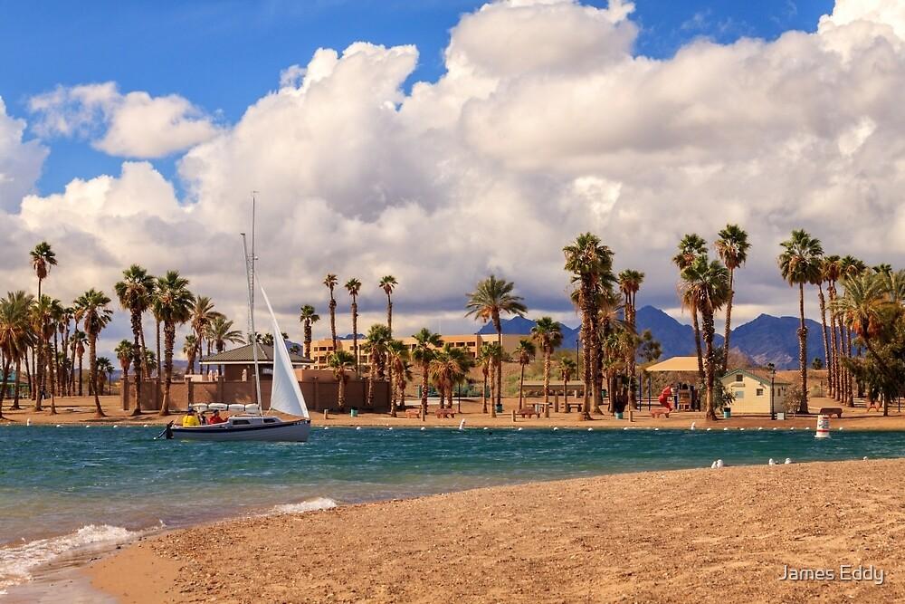Sailing Back To Havasu by James Eddy