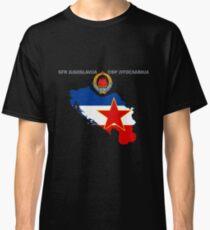 SFR Yugoslavia - Map - Emblem - Flag Classic T-Shirt