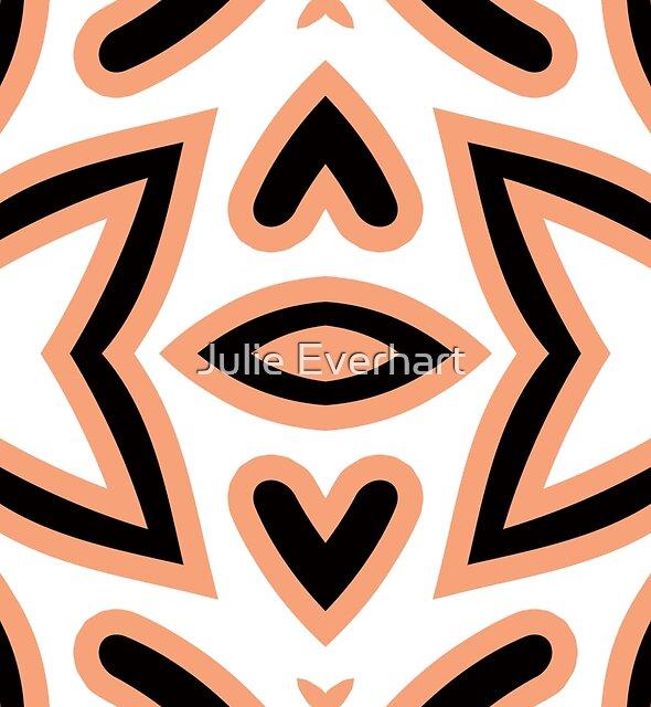 Peach Hearts by Julie Everhart by Julie Everhart