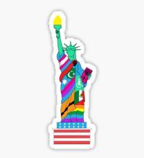Pegatina brillante Libertad para todos