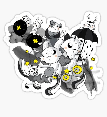 We're  singing in the rain Sticker