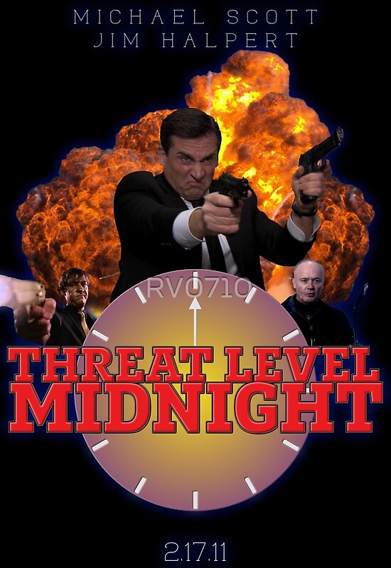 Quot Threat Level Midnight Poster Quot Posters By Rv0710 Redbubble