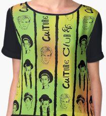 Culture Club 35 - Red, Gold & Green Chiffon Top