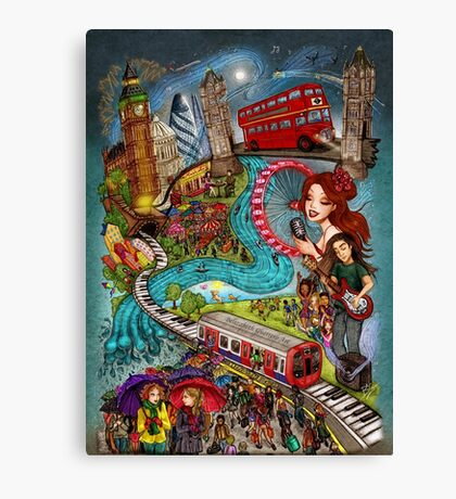 Sounds of London Canvas Print