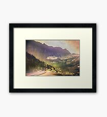 Mountains and Forest - Drive Framed Print
